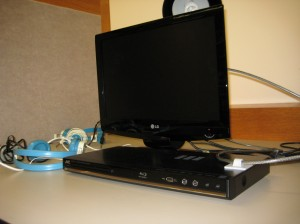 Blu-Ray player in 4th floor carrel