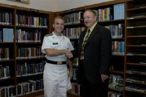 Cadet Danny Plitnick 2007 Camper Award Winner with Bob Camper